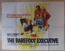 Barefoot Executive,Original UK Quad Poster, Kurt Russell, Walt Disney, VG+++ '71